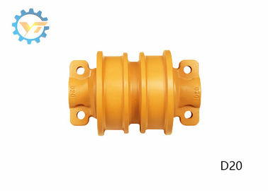 D20 Double Flange Bulldozer Track Rollers Assembly With Heat Treatment
