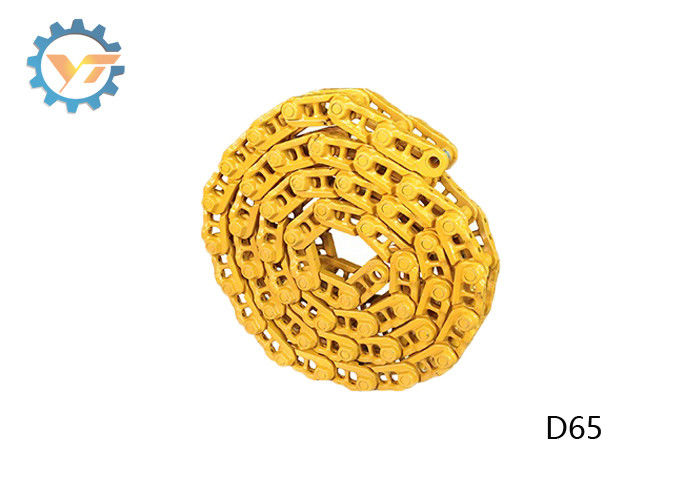 D65 Bulldozer Track Chains Track Link Assy Forging / Casting Technique supplier