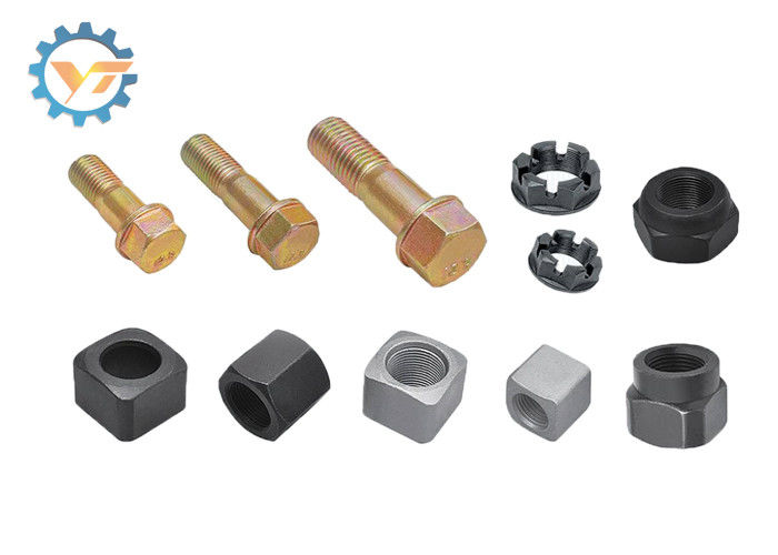 Heavy Duty Excavator SpareParts Black Bolts And Nuts Grade 12.9