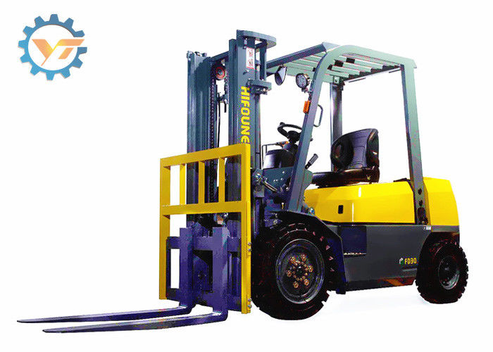 FD30 3 Ton Warehouse Lifting Equipment Forklift Truck 12 Months Warranty Time
