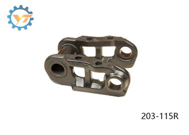 China 203-L/203-115R Excavator Track Chain Black Color With Heat Treatment HRC 40-55 distributor