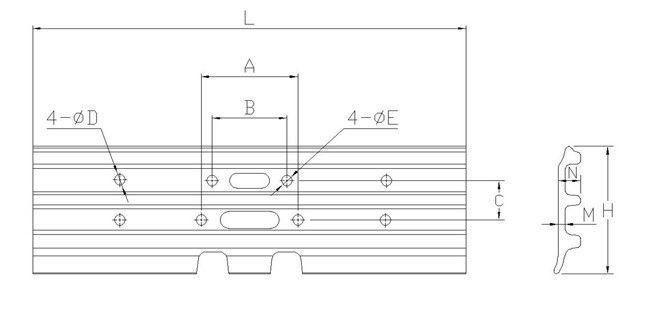 E330 CATERPILLAR Excavator Track Pads